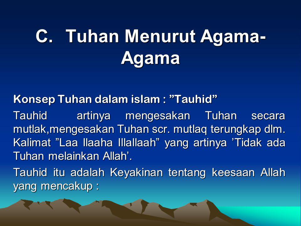 C. Tuhan Menurut Agama-Agama