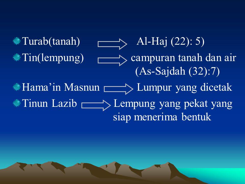 Turab(tanah) Al-Haj (22): 5)