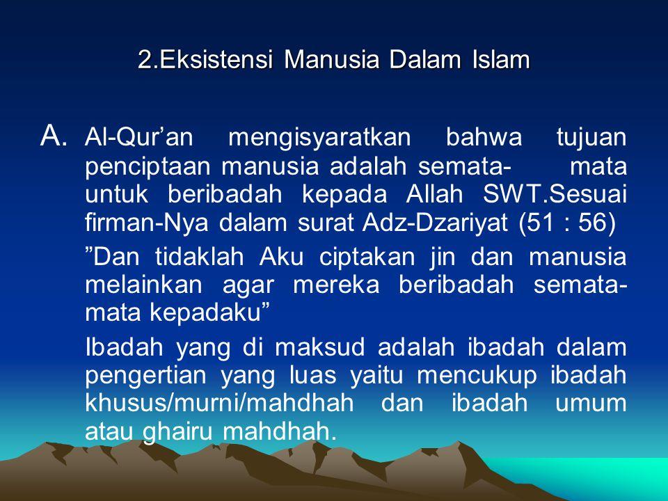 2.Eksistensi Manusia Dalam Islam