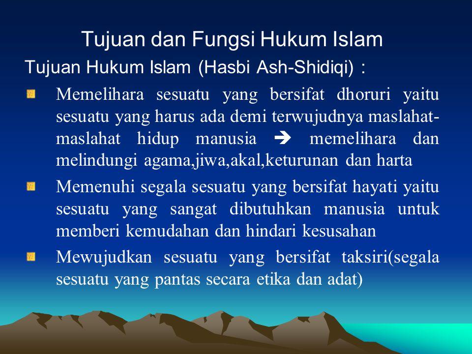 Tujuan dan Fungsi Hukum Islam