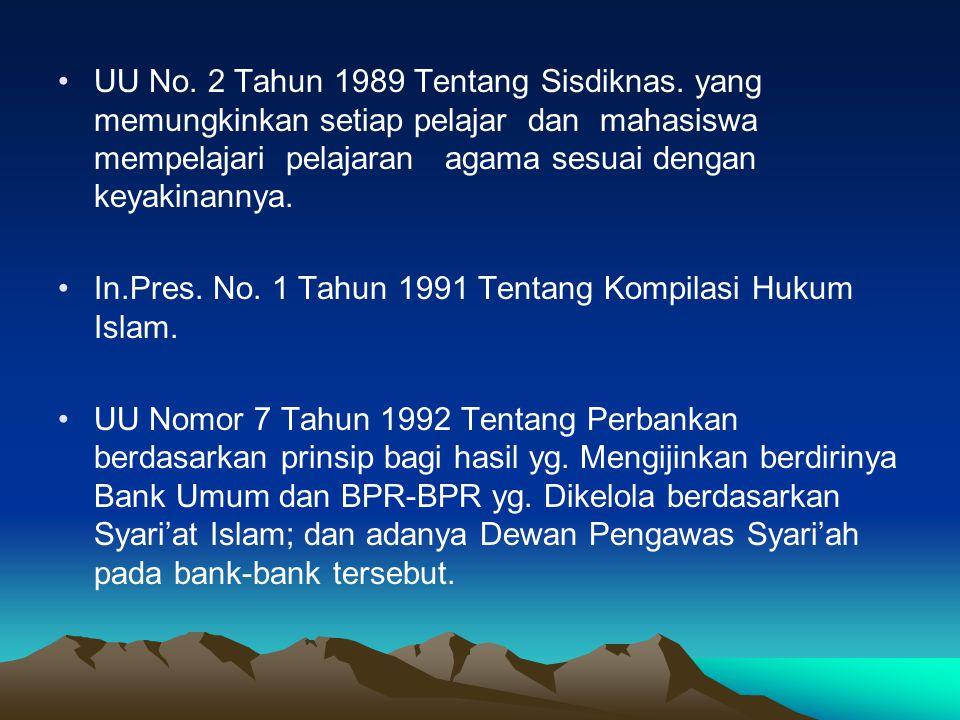 UU No. 2 Tahun 1989 Tentang Sisdiknas