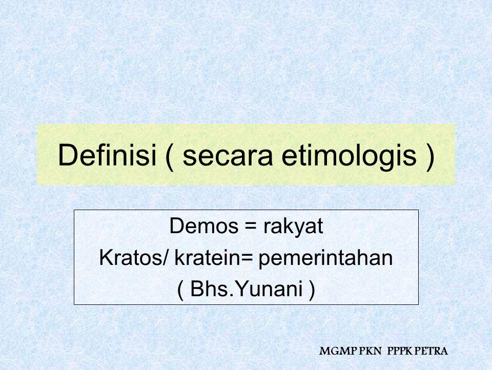 Definisi ( secara etimologis )