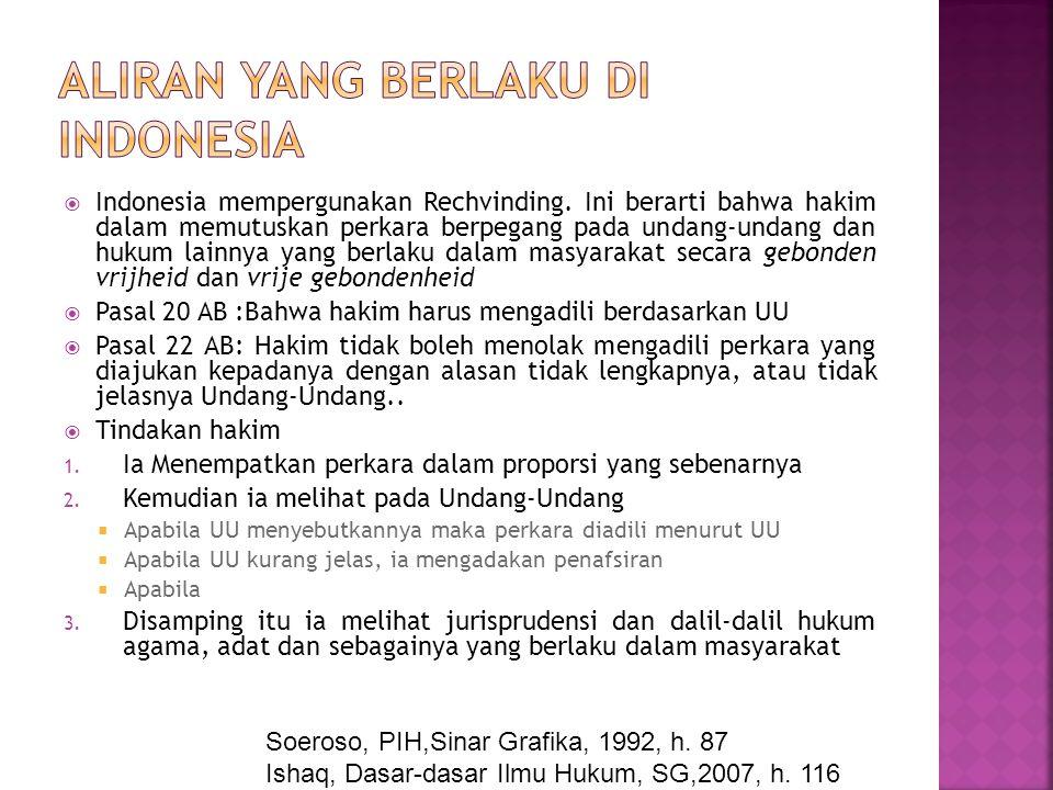 Aliran yang berlaku di indonesia