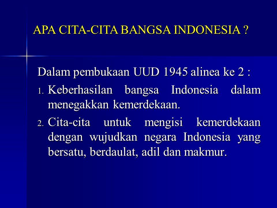 APA CITA-CITA BANGSA INDONESIA