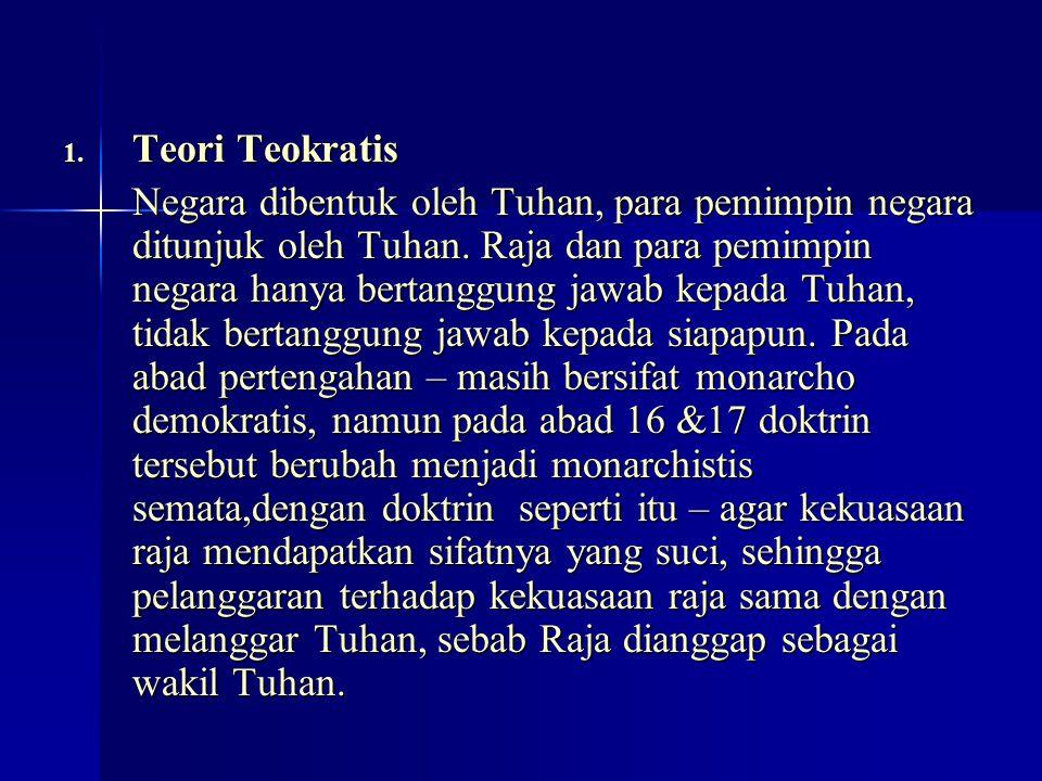 Teori Teokratis