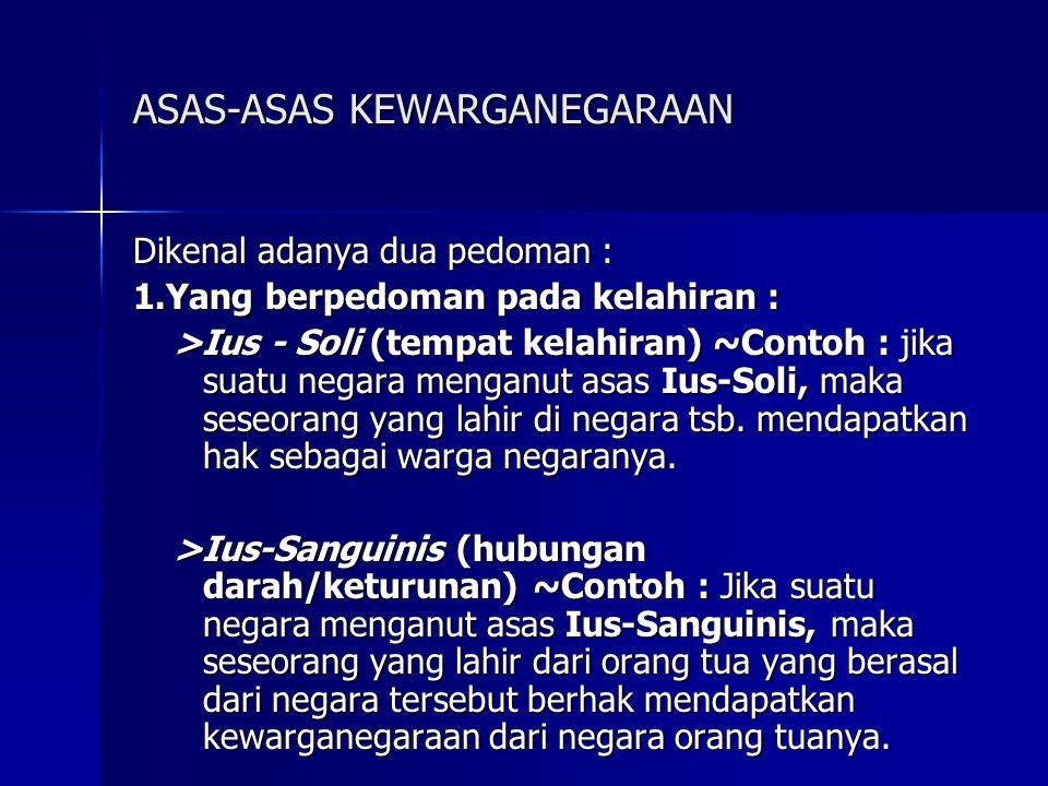ASAS-ASAS KEWARGANEGARAAN