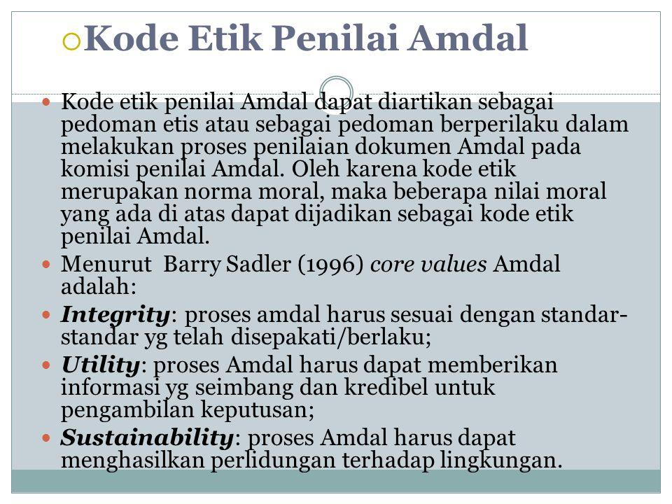 Kode Etik Penilai Amdal