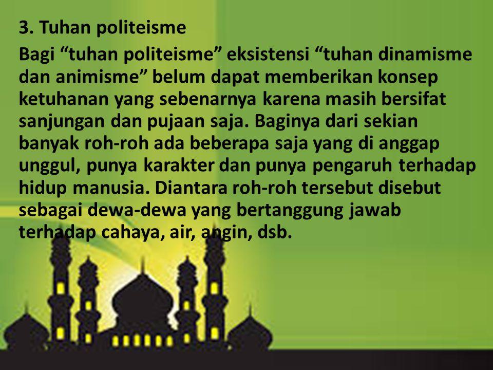 3. Tuhan politeisme