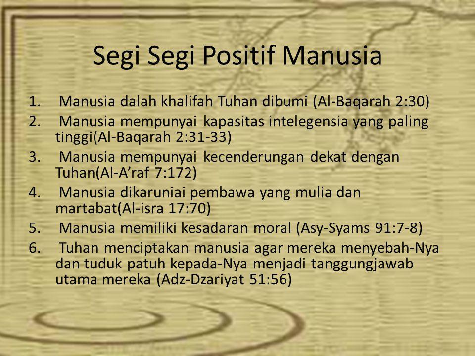Segi Segi Positif Manusia