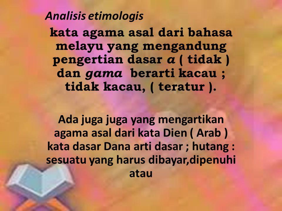 Analisis etimologis