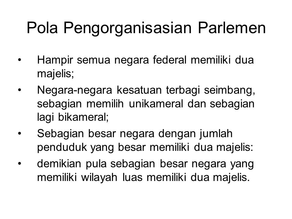 Pola Pengorganisasian Parlemen