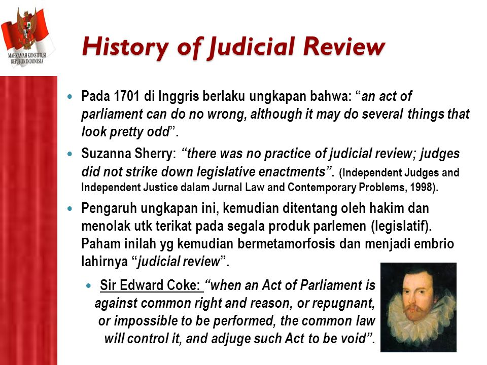 History of Judicial Review