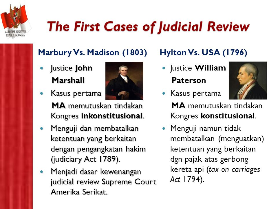 The First Cases of Judicial Review