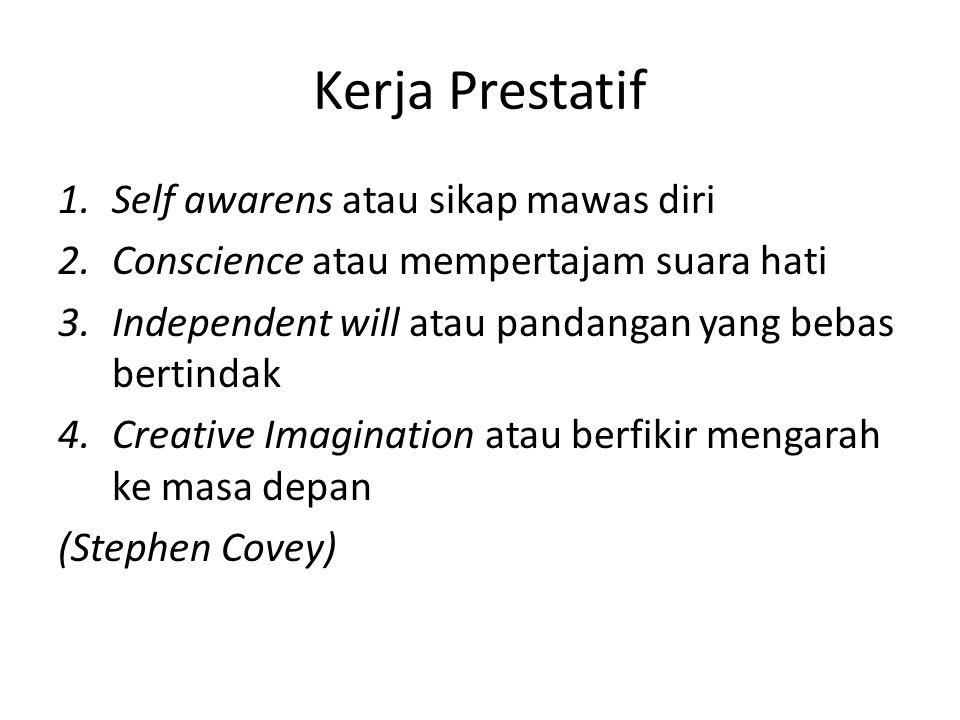 Kerja Prestatif Self awarens atau sikap mawas diri