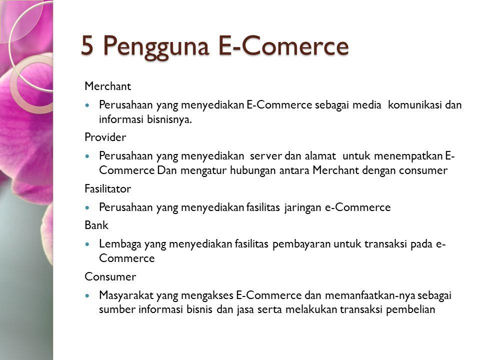 5 Pengguna E-Comerce Merchant
