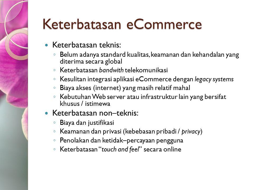 Keterbatasan eCommerce