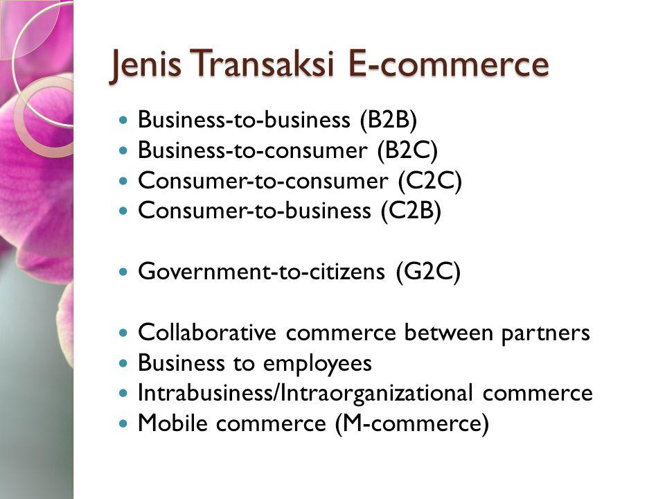 Jenis Transaksi E-commerce