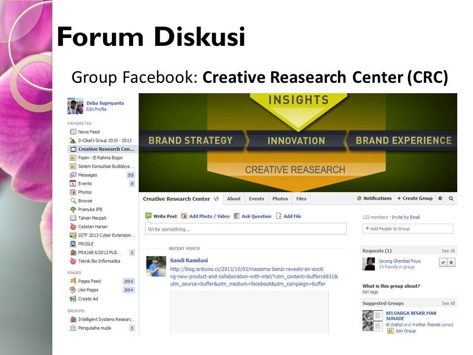 Group Facebook: Creative Reasearch Center (CRC)