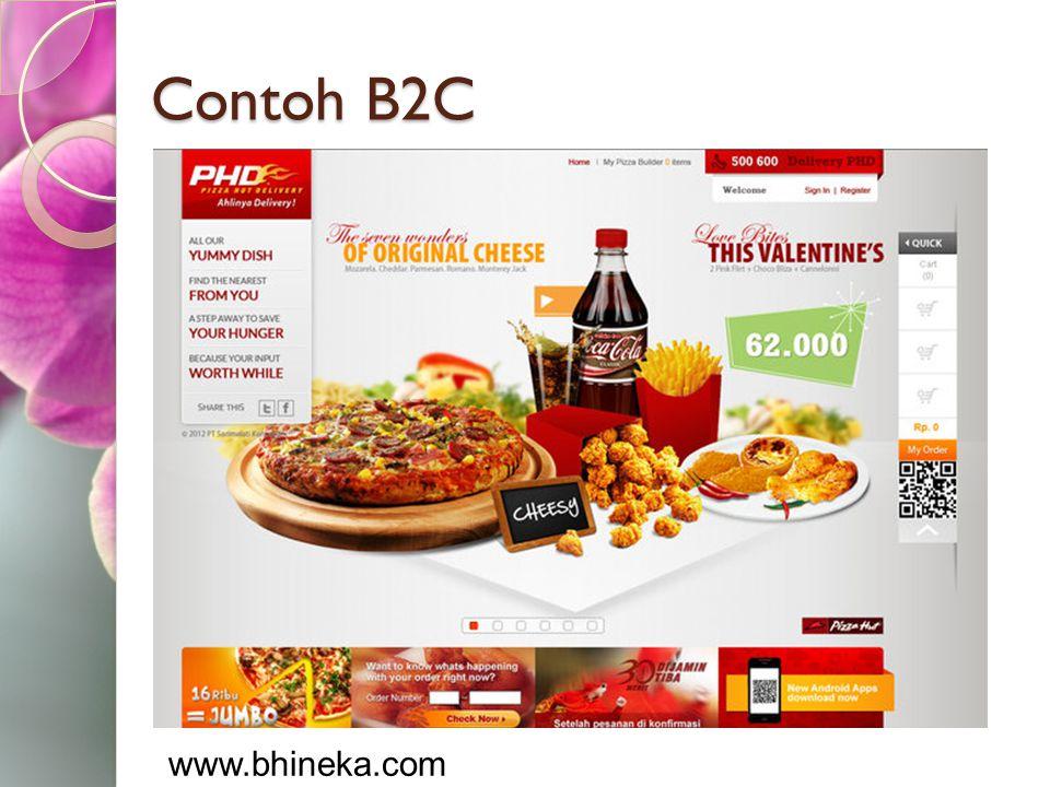 Contoh B2C www.bhineka.com