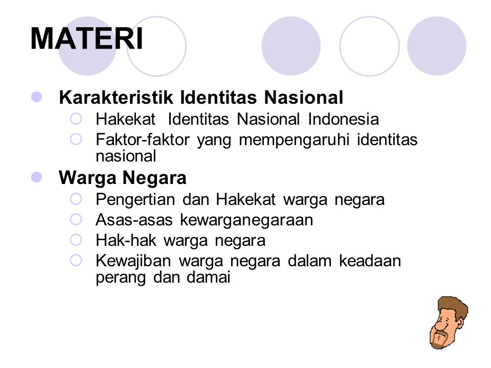 MATERI Karakteristik Identitas Nasional Warga Negara
