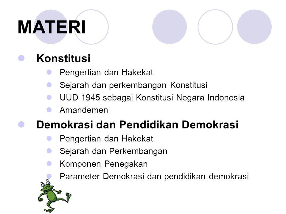 MATERI Konstitusi Demokrasi dan Pendidikan Demokrasi