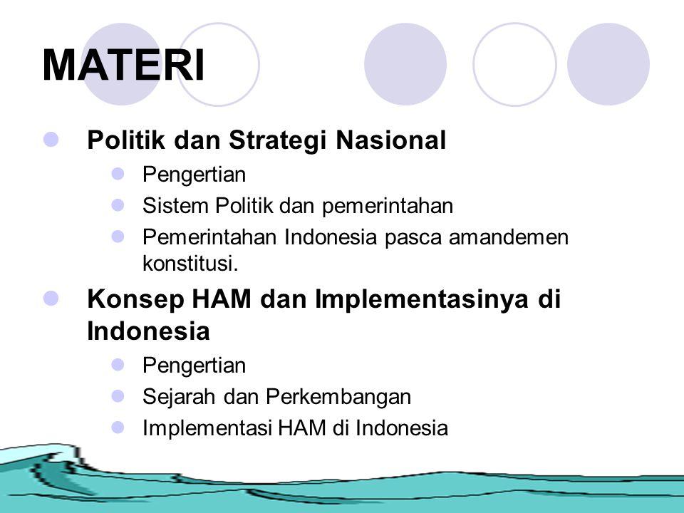 MATERI Politik dan Strategi Nasional