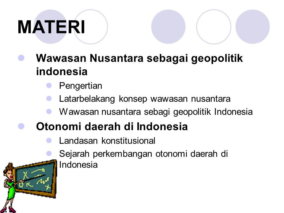 MATERI Wawasan Nusantara sebagai geopolitik indonesia