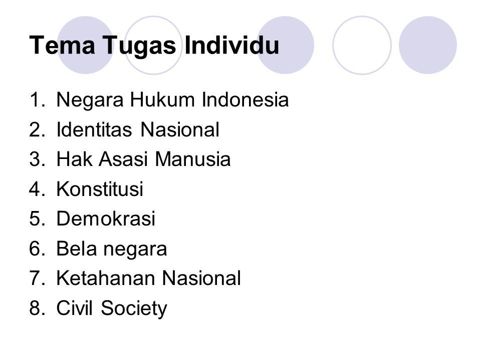 Tema Tugas Individu Negara Hukum Indonesia Identitas Nasional