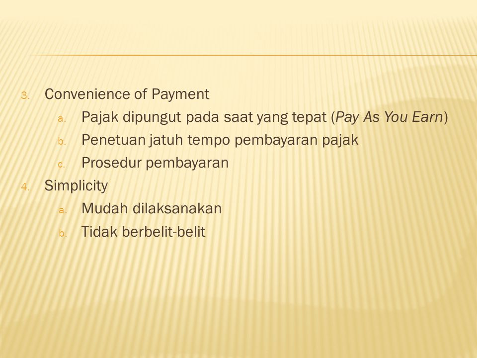 Convenience of Payment