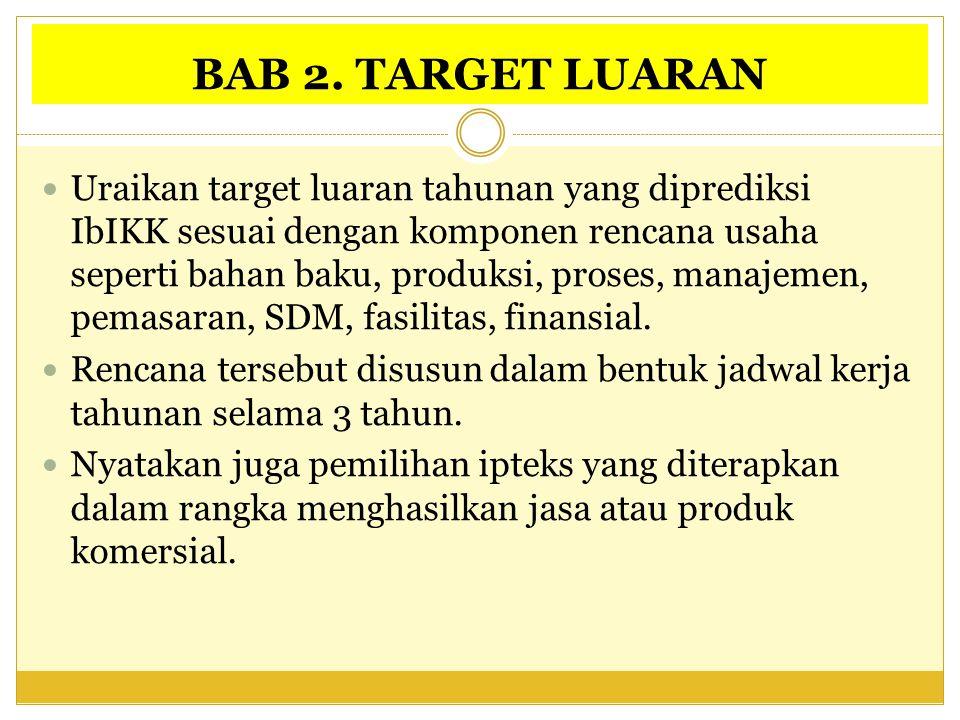 BAB 2. TARGET LUARAN