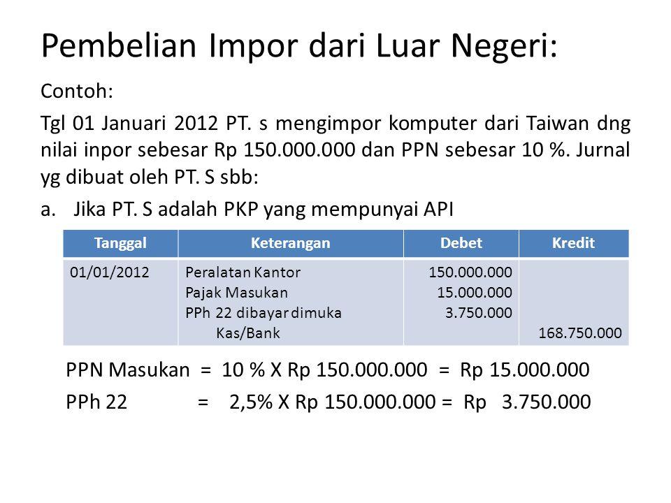 Pembelian Impor dari Luar Negeri: