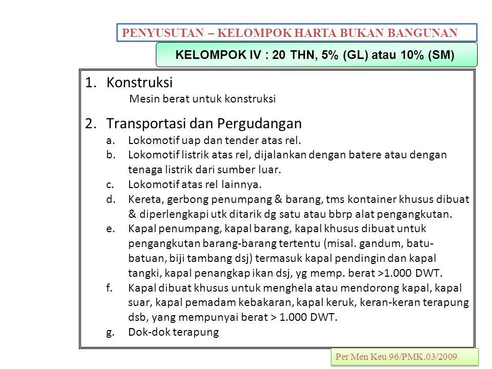 KELOMPOK IV : 20 THN, 5% (GL) atau 10% (SM)