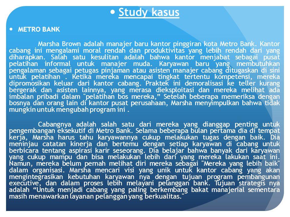 Study kasus METRO BANK.