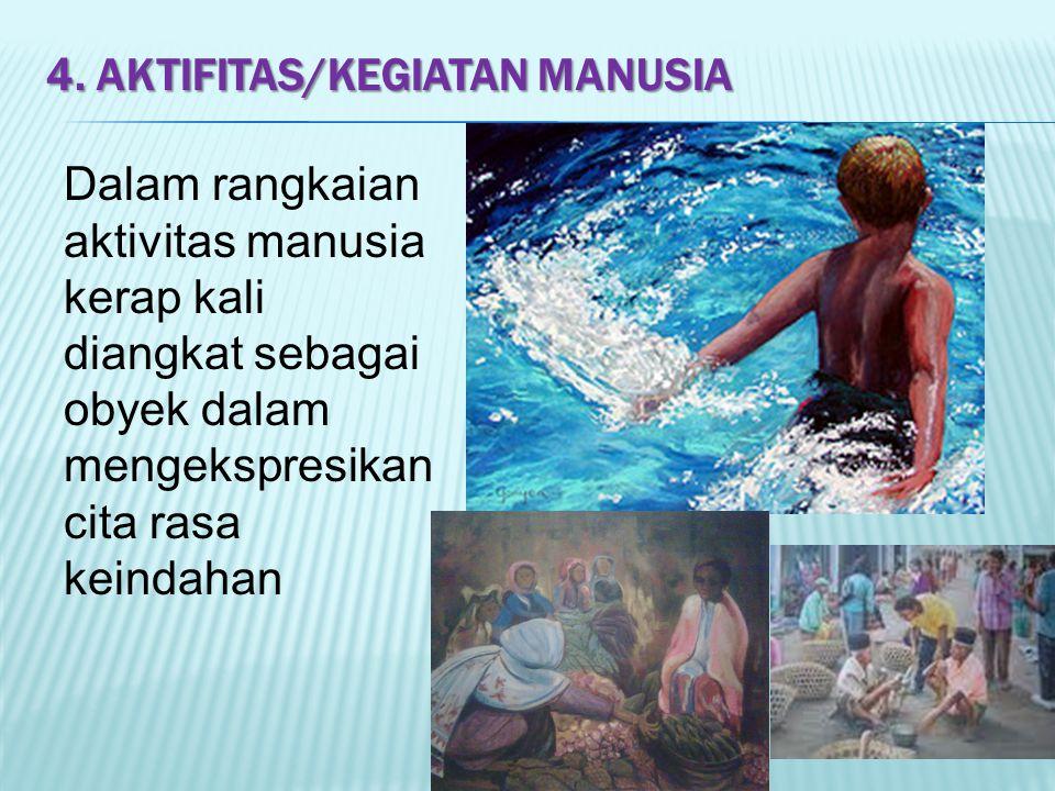 4. Aktifitas/kegiatan manusia