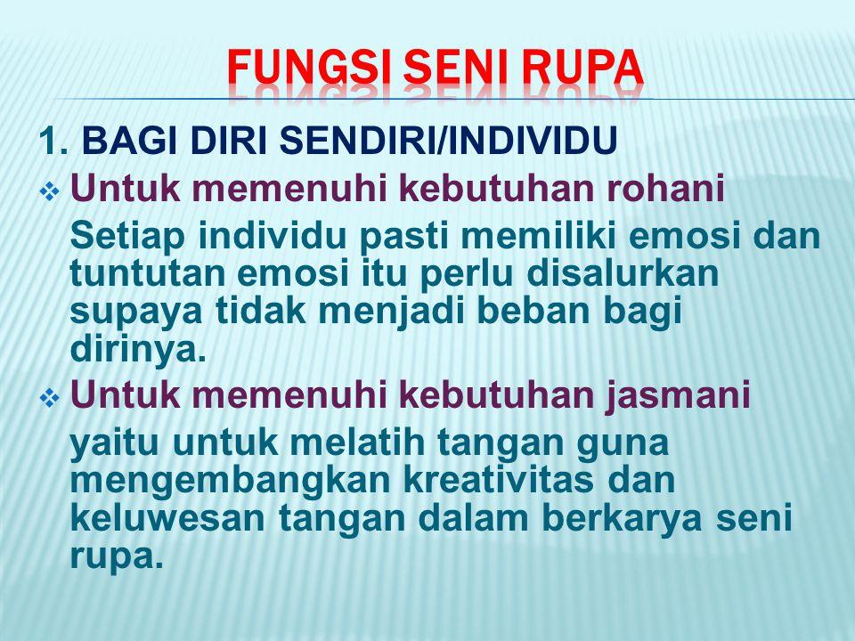 FUNGSI SENI RUPA 1. BAGI DIRI SENDIRI/INDIVIDU