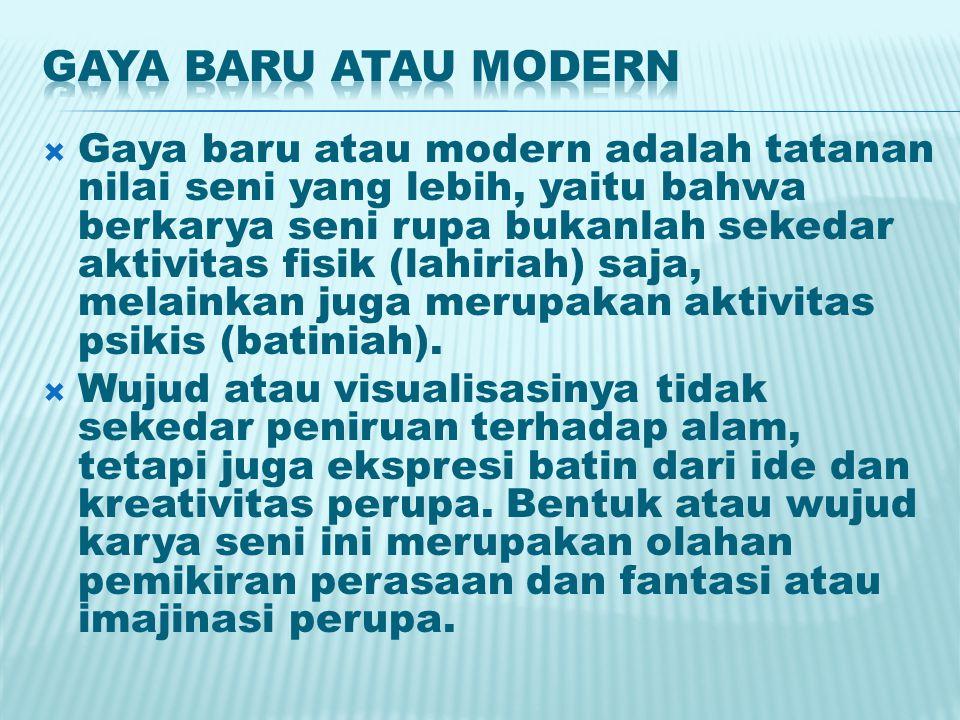 Gaya baru atau modern
