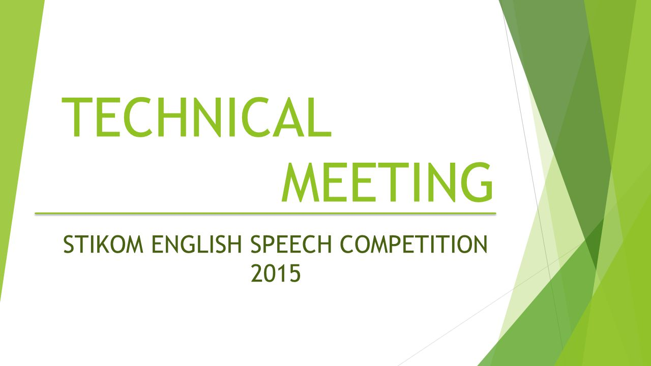 STIKOM ENGLISH SPEECH COMPETITION 2015
