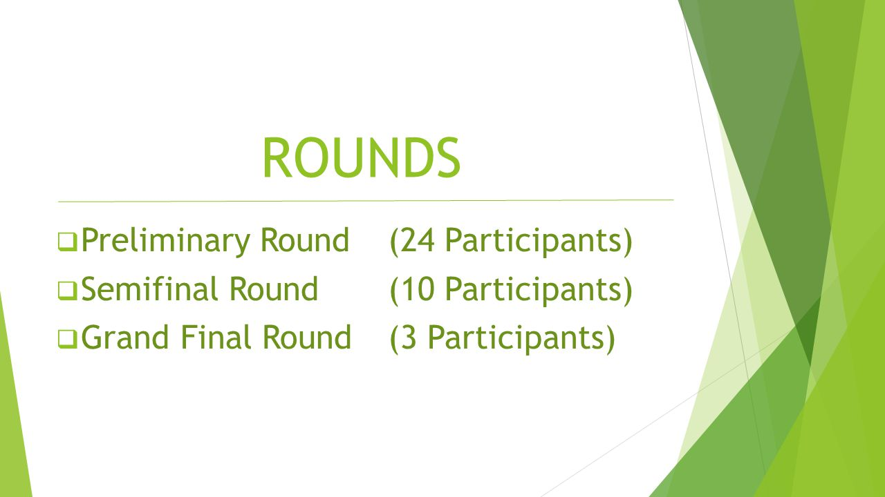 ROUNDS Preliminary Round (24 Participants)