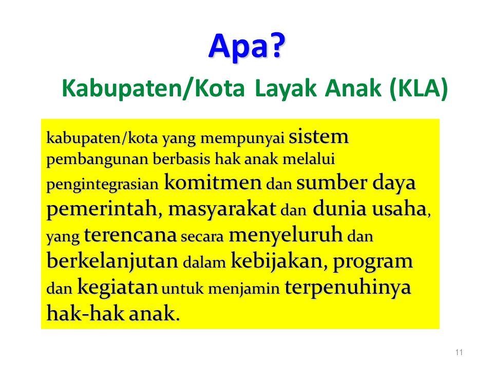 Apa Kabupaten/Kota Layak Anak (KLA)
