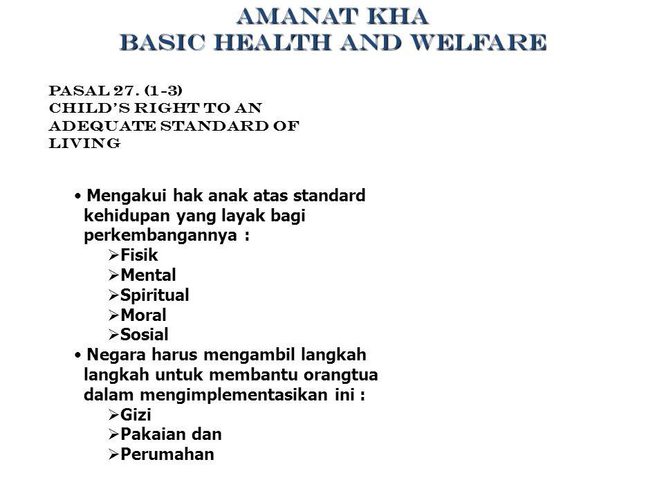 BASIC HEALTH AND WELFARE