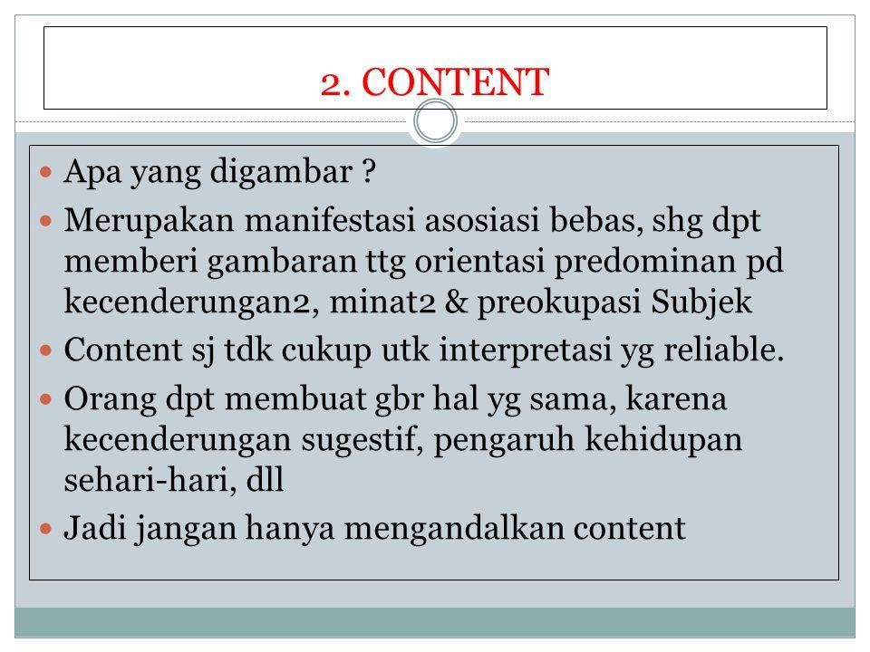 2. CONTENT Apa yang digambar