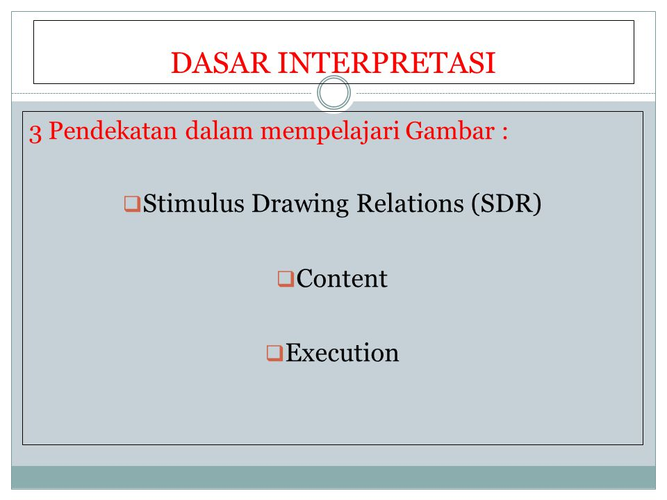 Stimulus Drawing Relations (SDR)