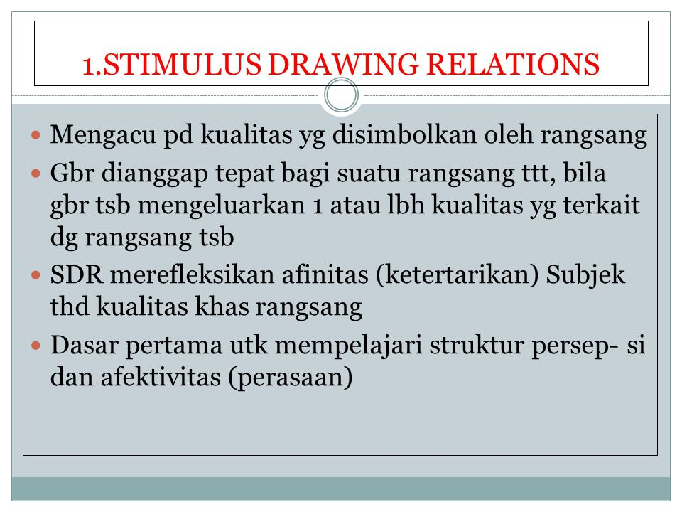 1.STIMULUS DRAWING RELATIONS
