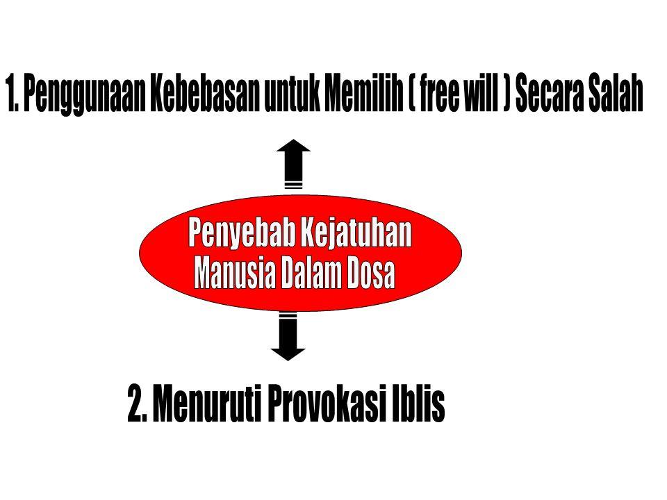 1. Penggunaan Kebebasan untuk Memilih ( free will ) Secara Salah