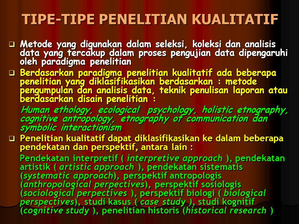 TIPE-TIPE PENELITIAN KUALITATIF
