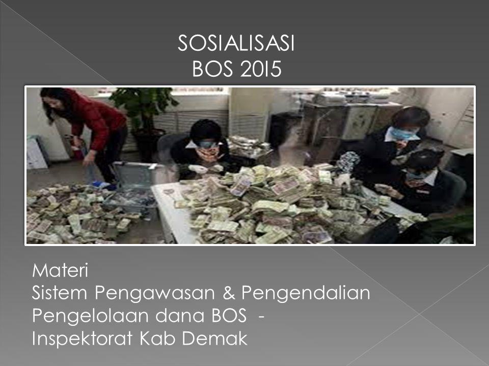 SOSIALISASI BOS 20I5 Materi Sistem Pengawasan & Pengendalian