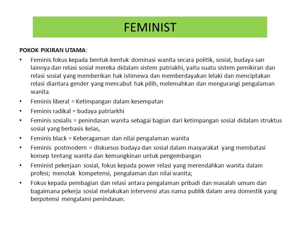 FEMINIST POKOK PIKIRAN UTAMA: