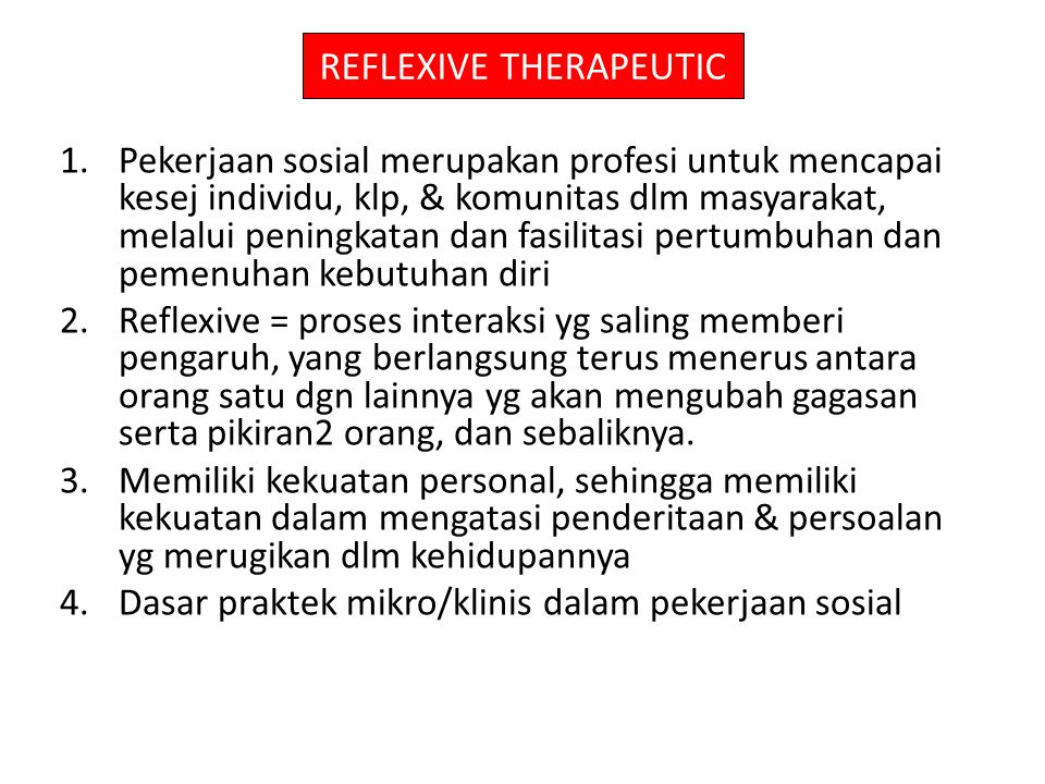REFLEXIVE THERAPEUTIC