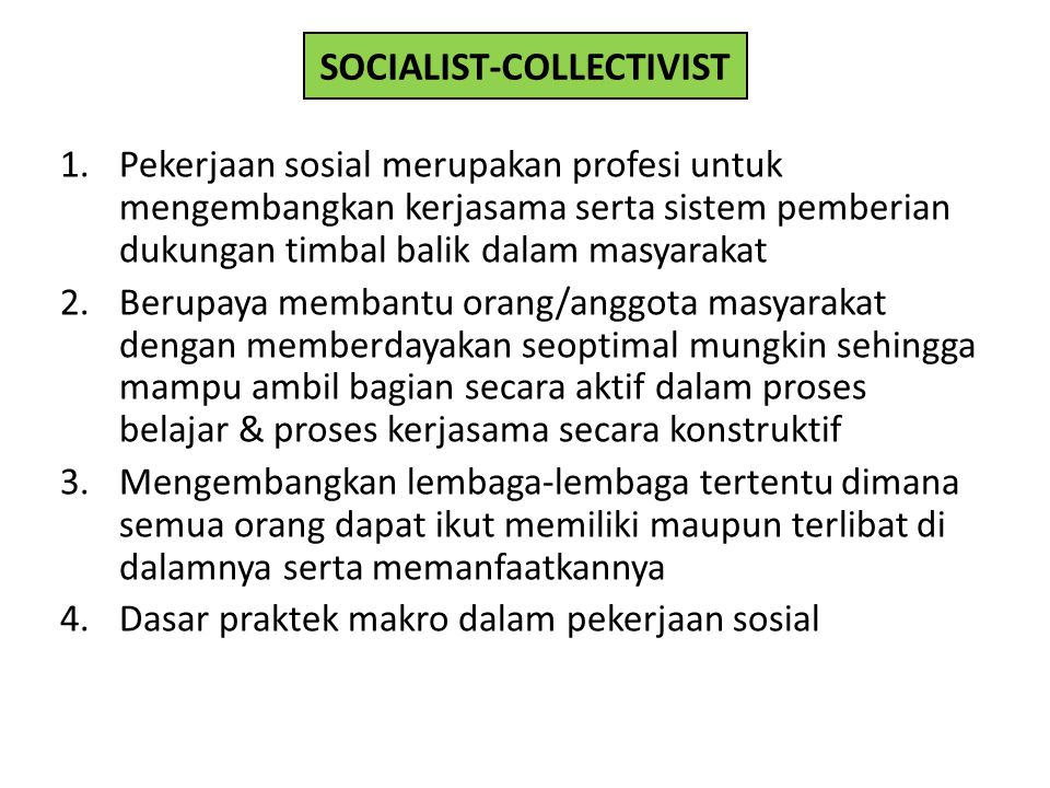 SOCIALIST-COLLECTIVIST
