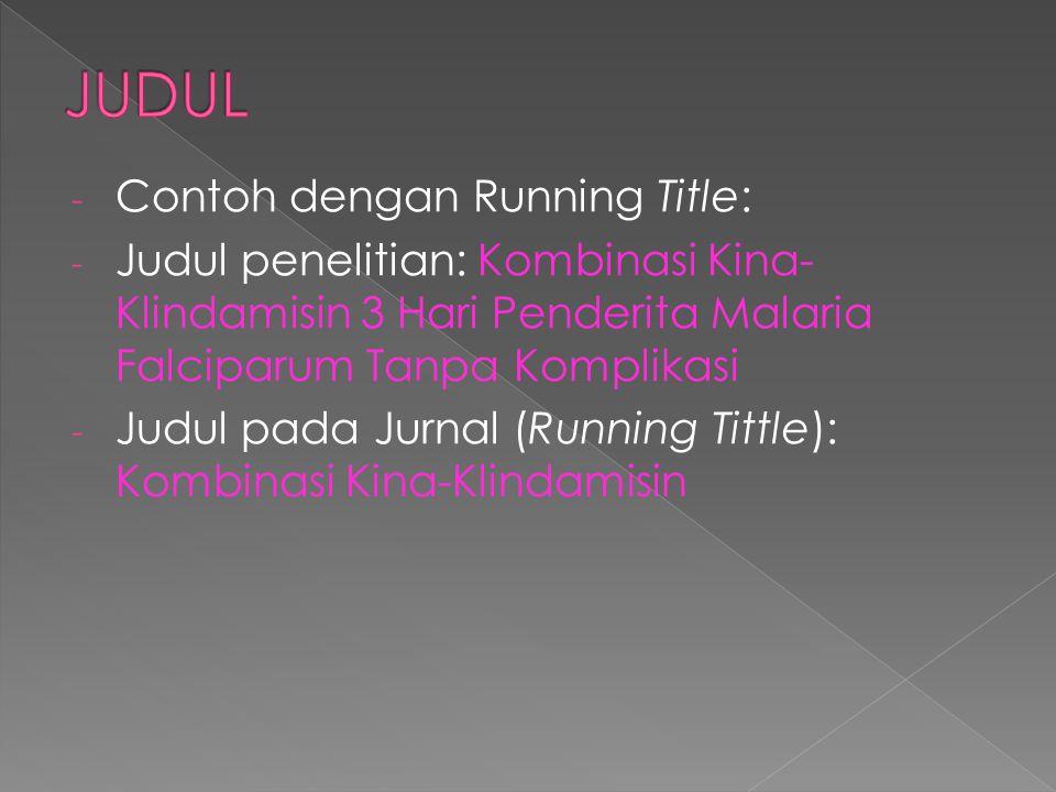 JUDUL Contoh dengan Running Title: